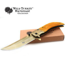 Wild Turkey Handmade Heavy Duty Spring Assisted Folding Pocket Knife