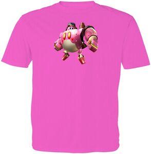 Gaming Super Star Kirby Robobot Kids Girls Boys Youth Video Game Top T-Shirt