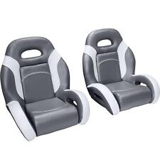 (Pair) Bass Boat Bucket Seats in Charcoal and Gray