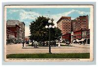 Macon GA, Dempsey Hotel & Park, Bank, Vintage Georgia c1920 Postcard