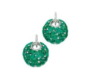 7Ct Pear Emerald Synt. Diamond Drop Dangle Cluster Earrings White Gold FN Silver