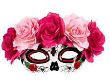 La Rosa Tag der Toten Augenmaske NEU - Karneval Fasching Maske Gesicht