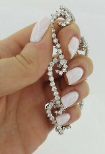 Angela Cummings 9.55 ct Platinum Round Diamond Seahorse Bracelet 27 Grams