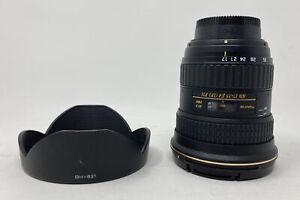 Tokina 17-35mm F4 AT-X PRO FX Nikon AF FULL FRAME & CROP HOOD & BOTH CAPS EXCEL