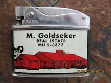 Vintage Wellington Balboa Advertising Cigarette Lighter, Real Estate
