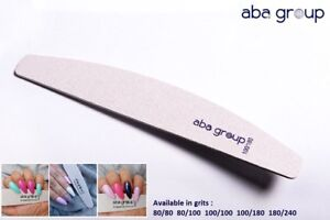 Professional Quality Nail Files Acrylic Gel Tips Choose your grits HALF MOON