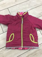 Polarn o Pyret Coat - Pink Quilted Jacket 1.5-2years Age 18-24 Months Reversible