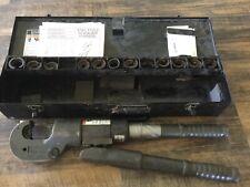 BURNDY Y750-2 Revolver Hypress Crimper with 13 Die Sets