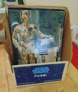 Vintage Star Wars Portfolio School Folder with Display 1977