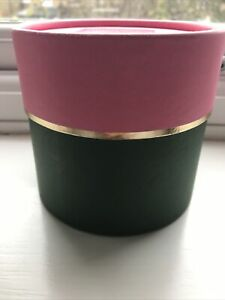 Kate Spade Green Pink Round Empty Gift Box 11x10cm Adjustable Height
