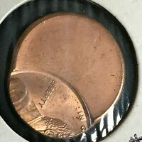 ND LINCOLN CENT OFF CENTER ERROR COIN BRILLIANT UNCIRCULATED