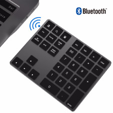 Standard Wireless Bluetooth Alloy Keyboard Number Numeric Keypad for Mac Laptops