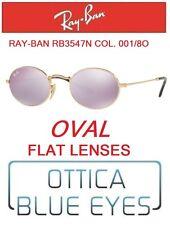 Occhiali da sole RAYBAN RB3547N 001/8O OVAL FLAT LENSES Sunglasses Ray Ban OVALE