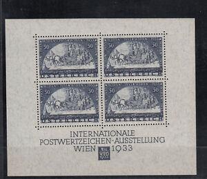 Österreich WIPA Block 1, **, Prüfgarantie, (127 x 104,5 mm)