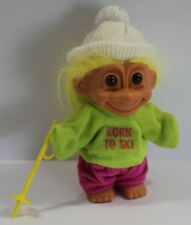 Vintage Russ Troll Born To Ski Girl 5""