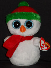 TY BEANIE BOOS - SCOOPS THE SNOWMAN - MINT with MINT TAGS 2013