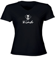 Bee Kind Juniors Girls Women Teen Tee T-Shirt Gift Shirt Print Kindness Bee