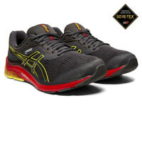 Asics Mens Gel-Pulse 11 GORE-TEX Running Shoes Trainers Sneakers - Grey Red
