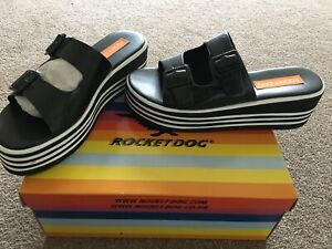BNWB Rocket Dog Ladies Womens Wedge Shoes Sliders Stripe Next Day