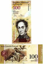 Venezuela 100 Bolivares Uncirculated Note, Year 2012