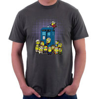 Doctor Who Minions in Time and Space Tardis, Men's T-Shirt