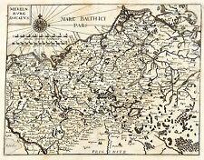 Ducado de Mecklemburgo-mekelnburg ducatus-Theatrum Europaeum-mapa 1633