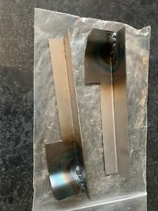 MGB Front Wing Rubber Bumper to Chrome Conversion Plinths / Indicator Panels
