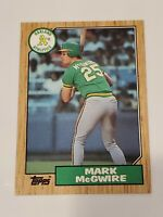 1987 Topps #366 Mark McGwire RC - A's Free Shipping