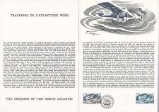 Document Philatélique Timbre  1er Jour : 04/06/ 1977 - Traversée Atlantique Nord