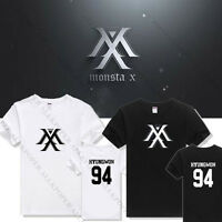 Kpop MONSTA X T-shirt RUSH I.M Unisex Tshirt Tee Cotton SHOWNU JOOHEON HYUNGWON