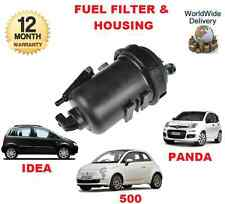FOR FIAT 500 IDEA NEW PANDA 1.3DT MULTIJET 2005-> FUEL FILTER + HOUSING COMPLETE