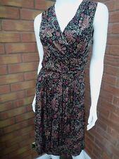 Ralph Lauren floreale senza maniche Ruffle Dress al dettaglio £ 210 taglie XS/UK 8... la vendita!!!