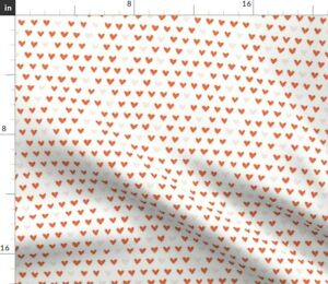 Hearts Love Valentine Spoonflower Fabric by the Yard