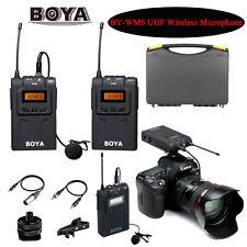 BOYA BY-WM6 UHF Omni-Directional Wireless Microphone for ENG EFP DSLR Cameras