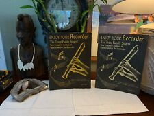 Lot Of 2books Enjoy Your Recorder The Trapp Family Singers M-1 C-Soprano C-Tenor