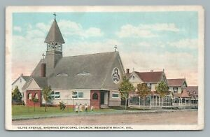 Olive Avenue Episcopal Church REHOBOTH BEACH Delaware—Antique Postcard 1925