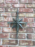 Turquoise Direction Star Cast Iron  Wall Decor Nautical Hanging Decor