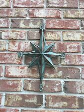 Turquoise Direction Star Cast Iron Wall Decor Nautical Hanging Decor