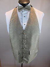 Mens Formal Vest Tan Design Matching Tie Included OSFA B2