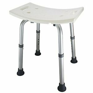 Ez2care Shower Bench Bath Seat Chair, Adjustable Height from 12.5 to 18 inch