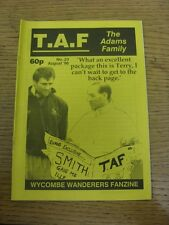 Aug-1996 Wycombe Wanderers: Fanzine - The Adams Family Issue 23. Thanks for view