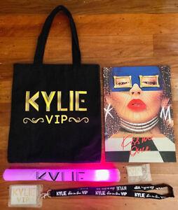 KYLIE MINOGUE Kiss Me Once Tour VIP Tote Bag, Program, Light, Lanyard, Keyring.