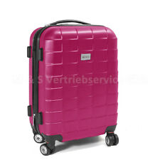 "Handgepäck Boardcase Cabin, Reisekoffer Reisetrolley M - Modell ""SQUARES"" - PINK"