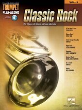 Classic Rock Trumpet Play-Along Book Audio Online NEW 000137385
