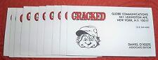 5 Cracked Magazine Business Cards Daniel O'Keefe Assistant Editor - Festivus