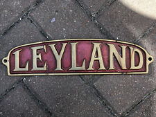More details for rare old leyland brass badge - from the front of a lorry / fire engine