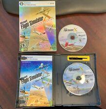 Microsoft Flight Simulator X Deluxe Edition 2006 PC W/ Key 2 DVD's Manual