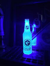 NHL Winnipeg Jets Hockey 12 oz Beer Bottle Light LED Bar Man Cave