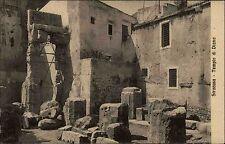 Syrakus Siracusa Italien Italia Sizilien AK ~1910 Tempio di Diana Tempel Bauwerk
