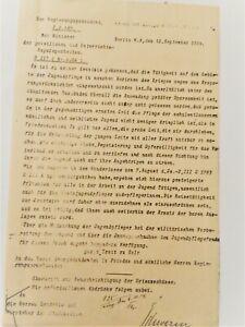 von Schwerin 1914: Autograph, hektographiertes Schreiben; Fotos u. Beschreibung